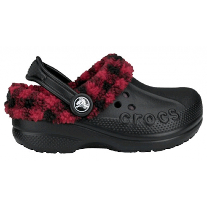 Crocs Kids Blitzen Lumber Jack Plaid 22-24 (C6/C7) / Black/True Red