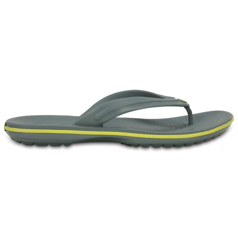 Crocs Crocband Flip 44-45 (M11) / Concrete/Chartreuse