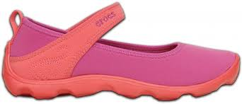 Crocs Duet Busy Day Mary Jane 32-33 (J1) / Vibrant Violet/Coral