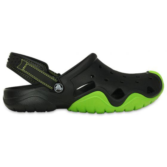 Crocs Swiftwater Clog 41-42 (M8) / Black/Volt green