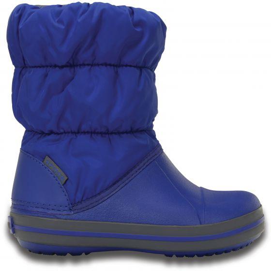 Crocs Winter Puff Boot Kids 24-25 (C8) / Cerulean Blue/Light Grey