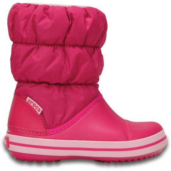 Crocs Winter Puff Boot Kids 24-25 (C8) / Candy Pink