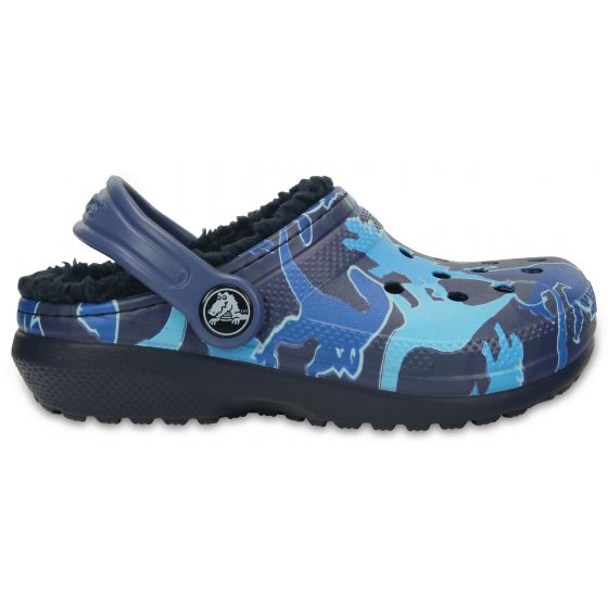 Crocs Classic Lined Graphic Clog K 24-25 (C8) / Blue Camo
