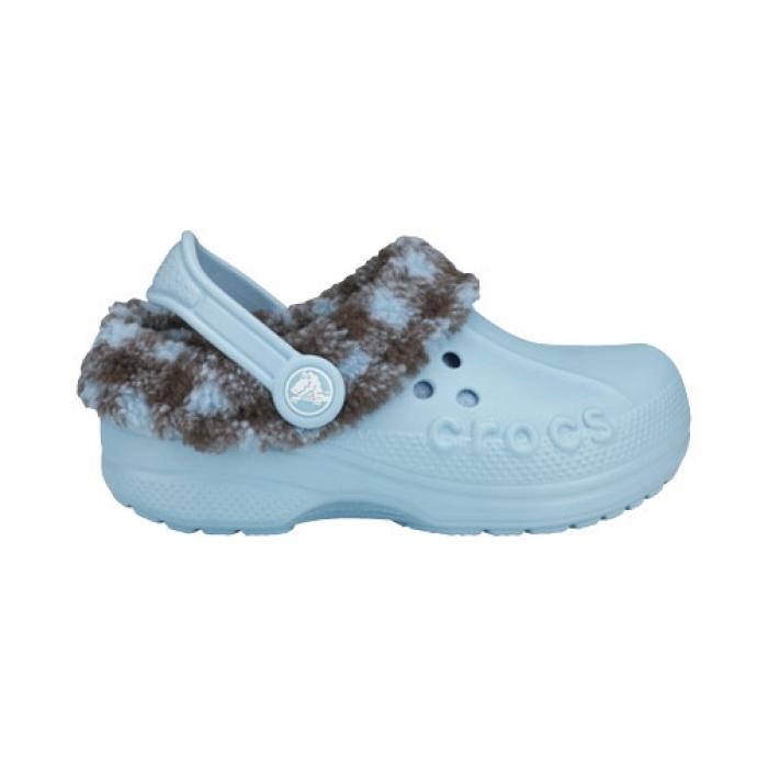 Crocs Kids Blitzen Lumber Jack Plaid 22-24 (C6/C7) / Sky/Chocolate