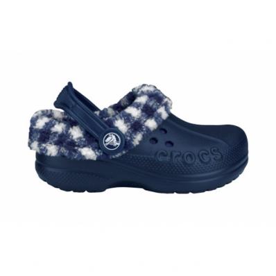 Crocs Kids Blitzen Lumber Jack Plaid 22-24 (C6/C7) / Navy