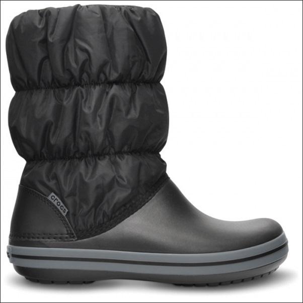 Crocs Winter Puff Boot Kids 22-23 (C6) / Black/ Charcoal