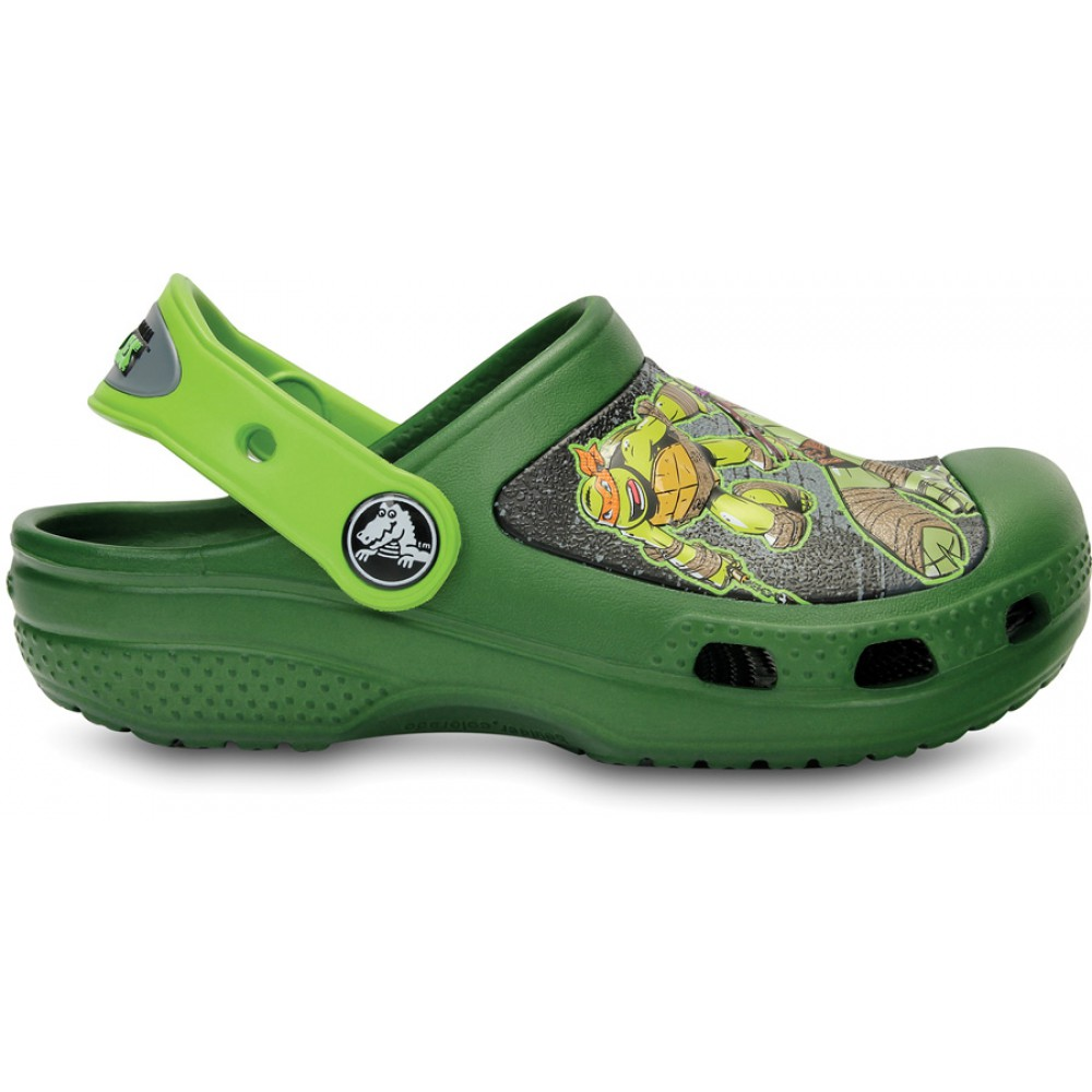 56731b86a8f Crocs Teenage Mutant Ninja Turtles Clog 22-24 (C6 C7)   Seaweed Volt ...